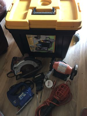 Tool box with power tools for Sale in Seattle, WA