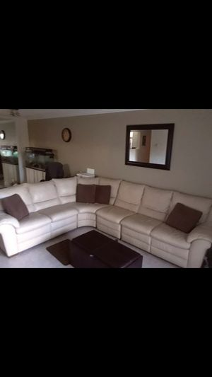 Leather couch sectional sofa for Sale in Fort Lauderdale, FL