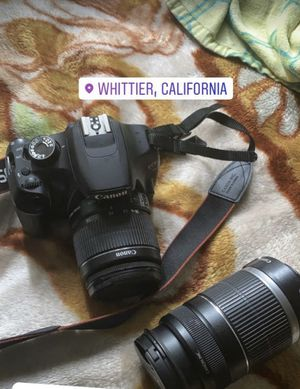 Canon T5 with 2 brand new lens for Sale in Whittier, CA