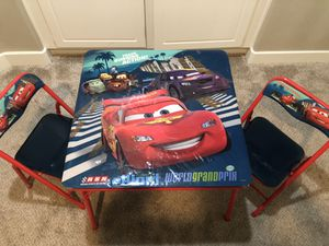 Cars Kid's Table With 2 Chairs for Sale in March Air Reserve Base, CA