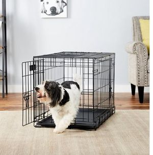 Fold & Carry Double Door Collapsible Wire Dog Crate, 30 inch e Fold & Carry Double Door Collapsible Wire Dog Crate, 30 inch for Sale in Mill Creek, WA