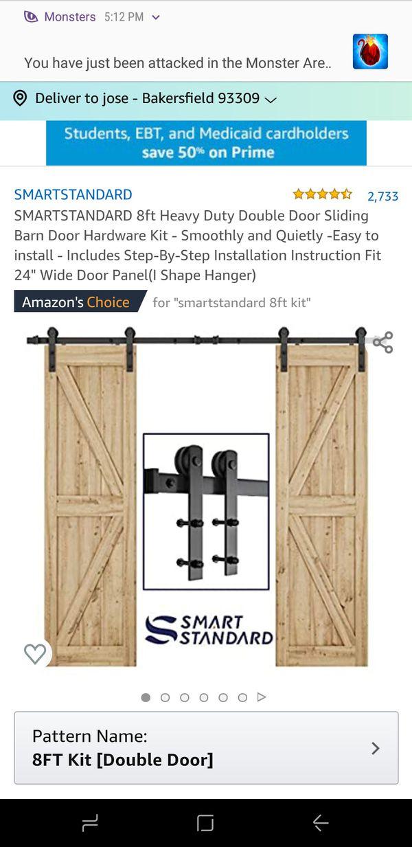 8ft heavy duty barn sliding door kit