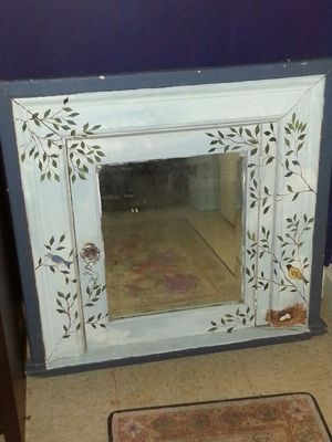 Antique hand painted medicine cabinet for Sale in Wellesley, MA