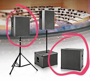"High quality Concert Speakers - Powered 15"" & 18"" Subs for Sale in Hoboken, NJ"