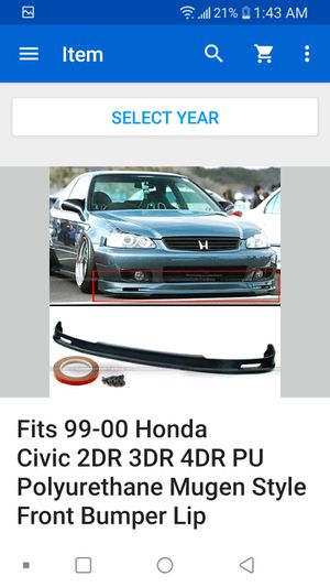 Honda Civic 96-00 parts: leds, headlights, grill, front lip, thermostat for Sale in Di Giorgio, CA