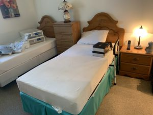 Two beds + dresser+ 2 cabinet for Sale in Glendale, CA