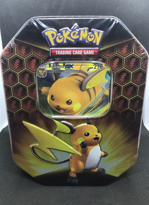Pokemon Hidden Fates TCG Raichu Tin Factory Sealed for Sale in Tampa, FL