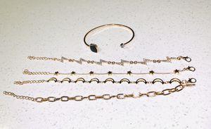 Beautiful NEW 5 piece moon and rhinestone lighting bracelet set for Sale in San Diego, CA