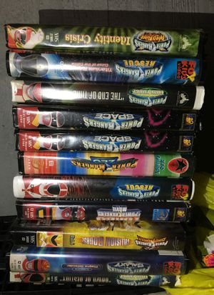 11 VHS power rangers $10 each for Sale in Mesquite, TX