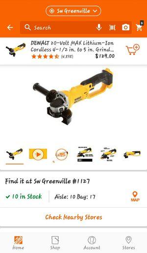 DeWalt 20 volt grinder tool only for Sale in Clemson, SC