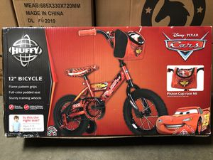 Brand New Disney CARS McQUEEN 12 Inch Bike with Training Wheels for Sale in Covina, CA