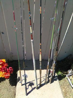 Vintage fishing poles so I'm not for Sale in Sanger, CA