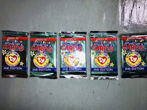 Beanie Baby, 1999, Series 3, 2nd Edition, Collectors Cards (5 packs) for Sale in El Cerrito, CA