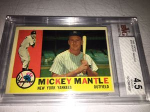 1960 MICKEY MANTLE (GRADED EXCELLENT) TOPPS BASEBALL CARD For Sale... for Sale in Lafayette, CA
