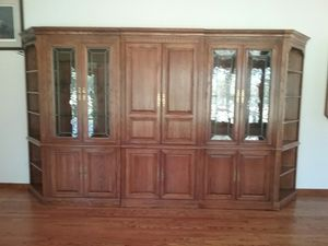 Ethan Allen 5 pc. Entertainment with Curio Cabinets (Real Wood) for Sale in Byrnes Mill, MO