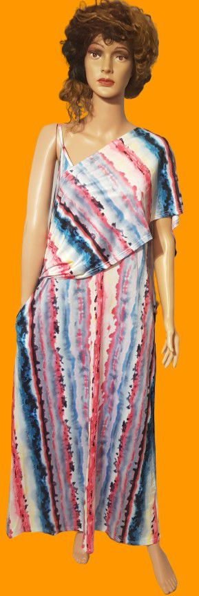 Tie Dye Maxi Dress w/cover-up for Sale in North Little Rock, AR