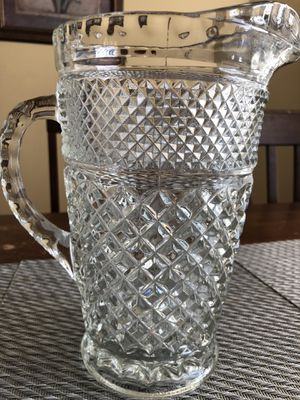 Diamond pattern pitcher and goblets for Sale in Clermont, FL