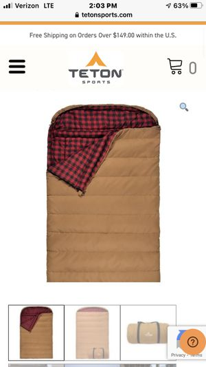 20 Degree Double Sleeping bag for Sale in El Cajon, CA
