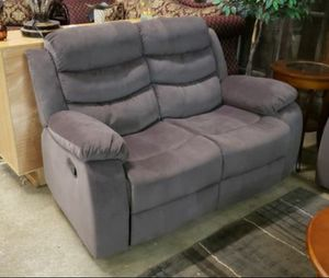 New Reclining set 3pc chocolate fabric for Sale in Puyallup, WA