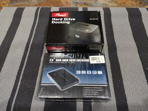 Hard drive enclosures 3.5 and 2.5 testing equipment for Sale in Franklin Park, IL