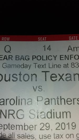 HOUSTON TEXANS TICKETS Good deal 150$for two seats verifiably valid for Sale in Houston, TX