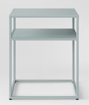 Two smoky green metal end tables! for Sale in Berkeley, CA