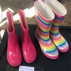 Girls Raining Boots Size 1 /2/3 for Sale in Dania Beach,  FL
