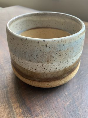 Unique handmade taupe, blue, and brown glazed ceramic plant pot for Sale in Vancouver, WA