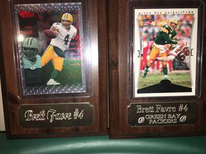 Brett Fabre football card plaques for Sale in Appleton, WI