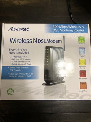 Actiontec 300 mbps Wireless N DSL Modem/ Router for Sale in Gilbert, AZ