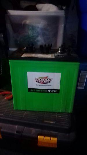 6 volt deep cycle lead acid battery for Sale in San Bernardino, CA