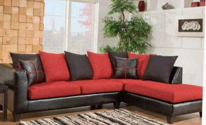Sectional Red and Black New for Sale in Decatur,  GA