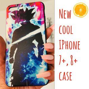 New cool iphone 7+ or iphone 8+ PLUS case rubber men women Goku dragon ball z super saiyan anime hypebeast hype swag for Sale in San Bernardino, CA