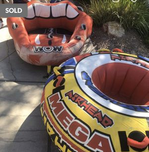 Large towable two person tube (pictured in back) for Sale in Las Vegas, NV