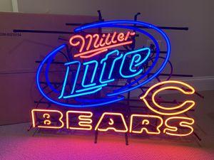 Miller Lite Bears Neon for Sale in Mokena, IL