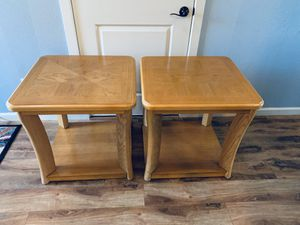 Set of two solid wood end table / nightstand for Sale in Vancouver, WA