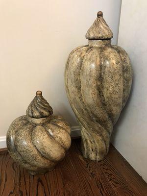 2 Large ceramic beige sculptures for Sale in Bethesda, MD