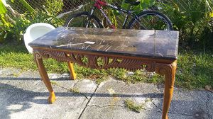 Polish, marble top coffee table for Sale in Tampa, FL