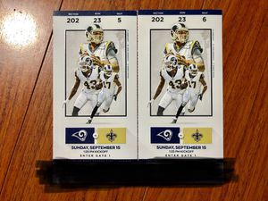 Rams tickets 200 section nice view 100$ each for Sale in Monterey Park, CA