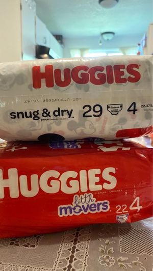 2 - Size 4 Huggies diapers, 2 paquetes de pañales talla 4 marca Huggies for Sale in Hillsboro, OR