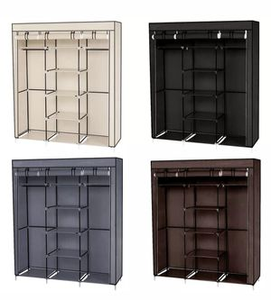 Closet Organizer Wardrobe Clothes Metal Shelves Portable Dark Brown Black Beige Gray New for Sale in Los Angeles, CA