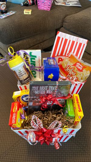 Family Night Movie Basket for Sale in Cadillac, MI