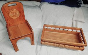 Antique wooden doll furniture for Sale in Arlington, TX