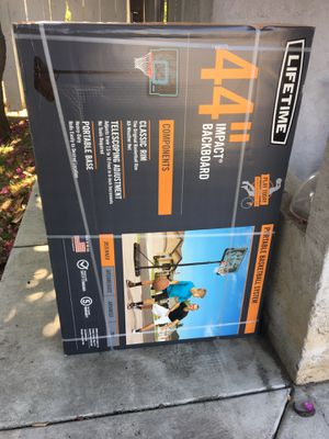 """Lifetime 44"""" impact portable basketball hoop for outdoors NEW IN BOX for Sale in National City, CA"""