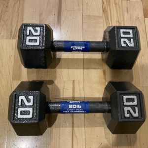 Cast Hex Dumbbell - 20 lbs Pair for Sale in Seattle, WA