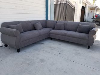 NEW 9X9FT CHARCOAL MICROFIBER SECTIONAL COUCHES for Sale in La Mesa,  CA
