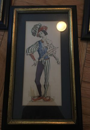 Vintage jester artwork for Sale in New York, NY