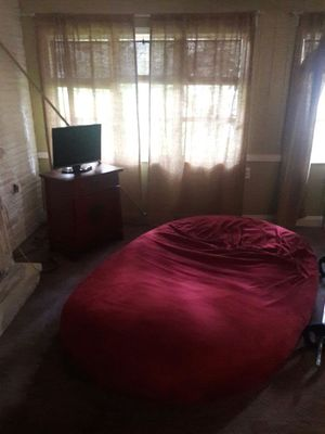 Big huge bean bag red cover for Sale in Plant City, FL