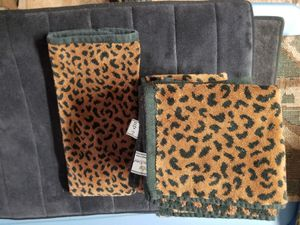 Leopard printed wash clothes & hand towel for Sale in San Luis Obispo, CA