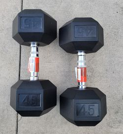 NEW Weider 45lbs Dumbbell weight set (90lbs total) for Sale in Hayward,  CA
